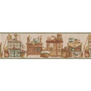 Norwall Kitchen Chests and Food Jars Wallpaper Border
