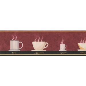 Retro Art Vintage Coffee Cups  Kitchen Wallpaper Border