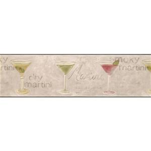 Retro Art Martini Recipe Retro Wallpaper Border