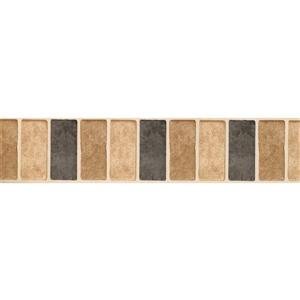 Retro Art Rectangular Trays Kitchen Wallpaper Border - Beige/Black