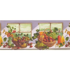 Norwall Flowers and Fruit Baskets Wallpaper Border