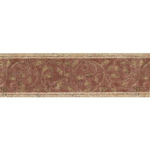 Norwall Abstract Damask Wallpaper Border - Beige