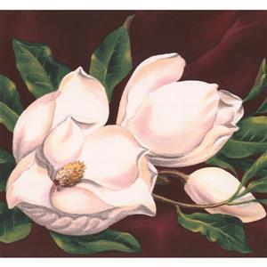 York Wallcoverings Retro Floral Wallpaper Border - White