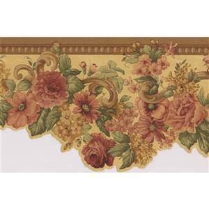 Norwall Roses Floral Wallpaper Border Roll - Pink