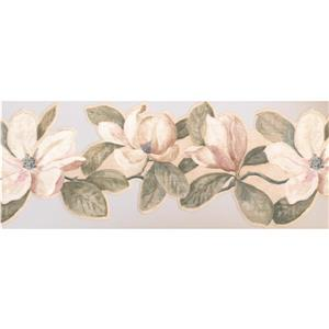 York Wallcoverings Floral Wallpaper Border - White