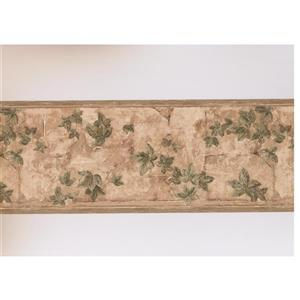York Wallcoverings Leaves on Branches Floral Wallpaper Border - Green/Brown