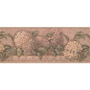 York Wallcoverings Flowers on Vines Wallpaper Border - Yellow/Pink