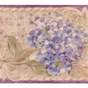 Chesapeake Flowers on Vine Wallpaper Border - Purple/Pink