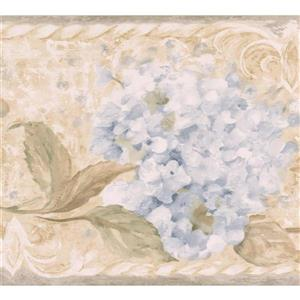 Chesapeake Flowers on Vine Wallpaper Border - White/Beige