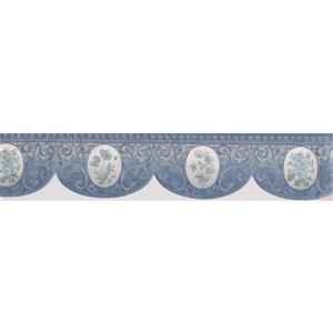 Norwall Crown Molding Victorian Wallpaper Border - Blue