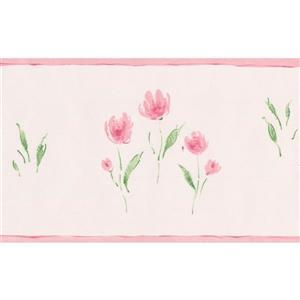 Norwall Meadow Vintage Floral Wallpaper - Blush Pink