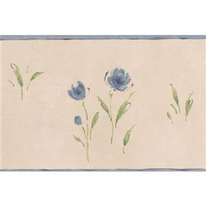 Norwall Meadow Vintage Floral Wallpaper - Blue
