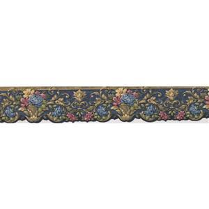 Norwall Flowers in Pots Victorian Wallpaper Border - Blue/Yellow