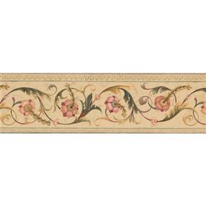 Norwall Abstract Floral Modern Wallpaper Border - Beige/Green