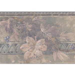 Norwall Autumn Leaves and Berries on Vine Floral Wallpaper