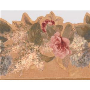 York Wallcoverings Bloomed Roses Floral Wallpaper Border - Pink