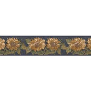 Norwall Retro Floral Wallpaper Border - Multicolour