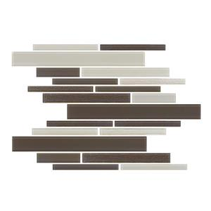 "Ceratec Lifestyle Barista  Wall Tile - 11"" x 12"" - Glass - Cappuccino"