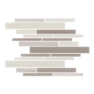 """Ceratec Lifestyle Barista  Wall Tile - 11"""" x 12"""" - Glass - Latte"""