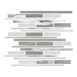 "Ceratec Lifestyle Metropole Wall Tile - 12"" x 12"" - Glass - White"