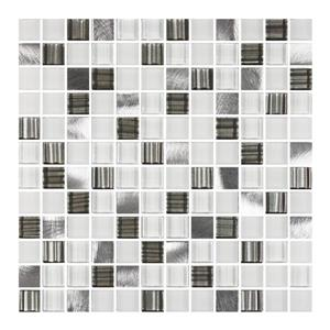 "Ceratec Lifestyle Metropole Wall Tiles - 12"" - Glass - White - 10 pcs"