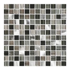 "Ceratec Lifestyle Metropole Wall Tile - 12"" - Glass - Charcoal"