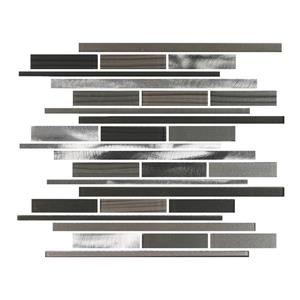 "Ceratec Lifestyle Metropole Wall Tiles - 12"" x 12"" - Glass - Charcoal - 10 pcs"