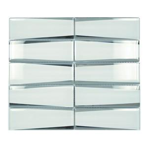 "Ceratec Lifestyle Crystal Wall Tile - 12"" x 12"" - Glass - White"