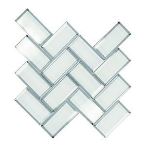 "Ceratec Wall Tiles - 12"" x 12"" - Glass - White - 10 pcs"