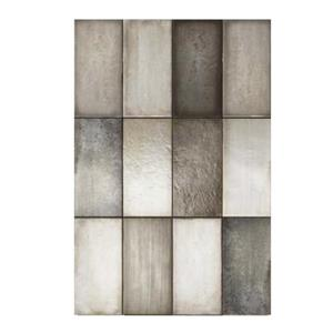 "Ceratec Iris Quayside Subway Wall Tile - 4"" x 8"" - Ceramic - Gray - 32 pcs"