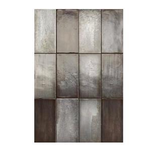 """Ceratec Iris Quayside Subway Wall Tile - 8"""" - Ceramic - Graphite - 32 pcs"""