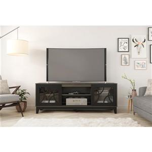 Nexera 402324 Venus TV Stand, 72-inch, Bark Grey and Black