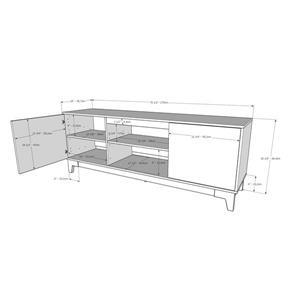 Nexera Rhapsody TV Stand, 72-inch, Nutmeg and Black