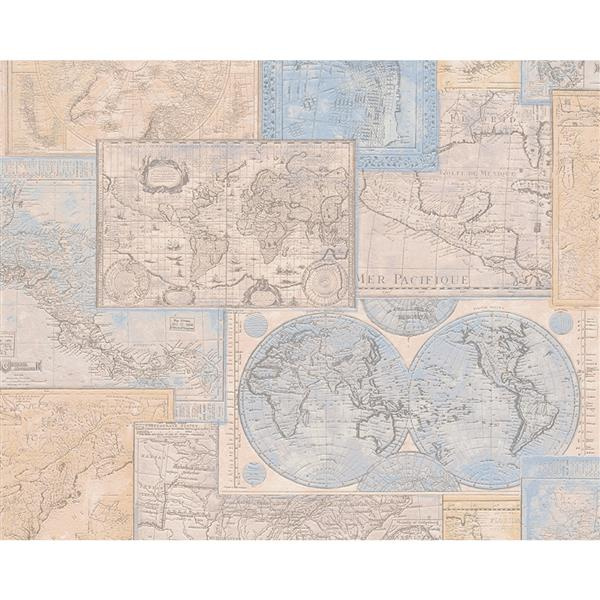A S Creation Dekora Natur 6 Wallpaper Roll 21 In World Map