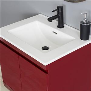 "Foremost Radley Wall Mount Vanity Combo - 25"" - Red"
