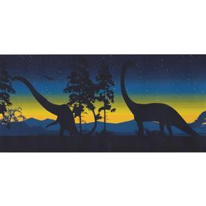 Retro Art Prehistoric Dinosaurs Wallpaper Border