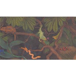 Retro Art Kids Jungle Wallpaper Border - Multicoloured