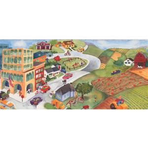 Retro Art Kids Cartoon American Wallpaper Border
