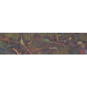 Retro Art Kids Jungle Wallpaper Border