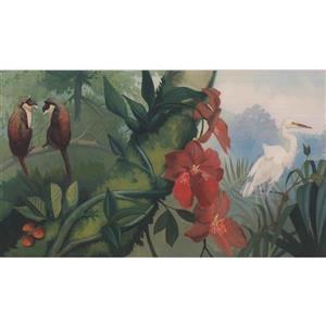 Retro Art Jungle Nature Wallpaper Border Retro