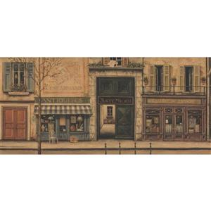 Retro Art Vintage French City Wallpaper Border