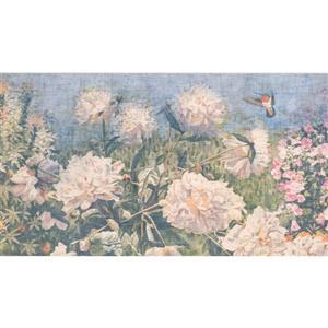 Retro Art Vintage Floweral Distressed Wallpaper Border
