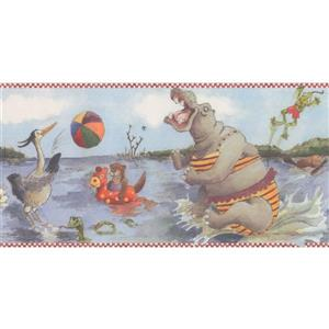 Retro Art Kids Cartoon Swamp Wallpaper Border