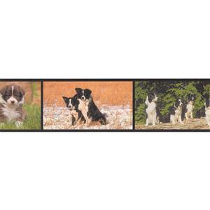 Retro Art Modern Dogs Wallpaper Border Roll - 15'