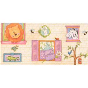 Retro Art Cartoon Animals Wallpaper Border