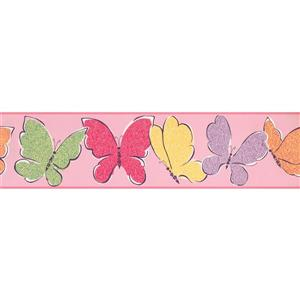York Wallcoverings Butterflies Wallpaper Border - Multicoloured