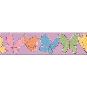 York Wallcoverings Kids Butterlfies Wallpaper Border - Multicoloured
