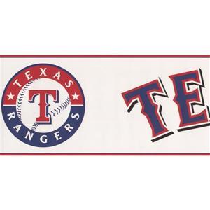 York Wallcoverings Texas Rangers MLB Baseball Wallpaper Border
