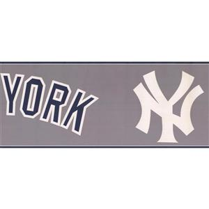 York Wallcoverings New York Yankees MLB Baseball Wallpaper Border