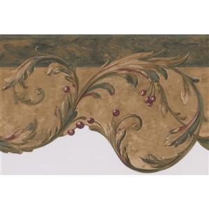 Retro Art Damask Vines Abstract Wallpaper - Multicoloured